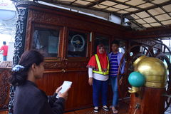 Ship Dewaruci Stop in Port of Tanjung Emas in Semarang Stock Photography