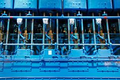 Ship diesel engine and piston stock photo