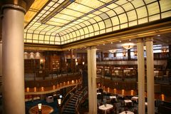 Ship Dining room Stock Photo