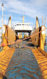 Ship in disarmament. Old ship that has worked so hard Royalty Free Stock Photography