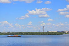 Ship on Dnieper river in Dnepropetrovsk Stock Photography