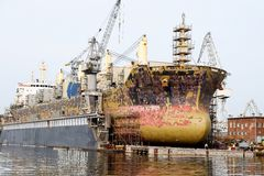Ship at dock Stock Photography