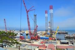 Ship dock. In Baku,  Azerbaijan Royalty Free Stock Images