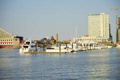 Ship dock in Baltimore inner harbor. Ship dock in Baltimore  inner Harbor scenic area and downtown Royalty Free Stock Photo