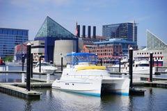 Ship dock in Baltimore inner harbor. Ship dock in Baltimore  inner Harbor scenic area and downtown Royalty Free Stock Image