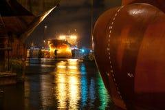 Ship at dock Stock Image