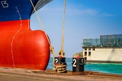 Ship in dock Stock Photography