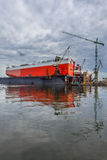 The ship in the dock - Repair Shipyard in Gdansk, Poland Stock Photos