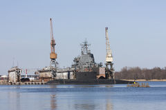Ship in dock royalty free stock images