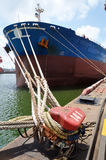 Ship docked at the pier Royalty Free Stock Photography