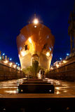Ship after docking. Ship in the dock renovation Stock Image