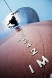 Ship draft on bow stock photography
