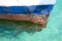Ship draft marks royalty free stock photo