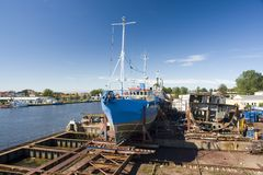 Ship in dry dock Stock Photography