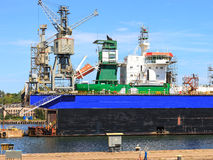 Ship In Dry Dock Royalty Free Stock Image