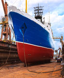 Ship in dry dock Stock Photos