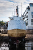 Ship in dry dock - Iceland Royalty Free Stock Image