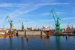 Ship on a dry dock Stock Photos