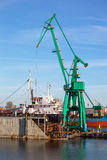 Ship on a dry dock Royalty Free Stock Image