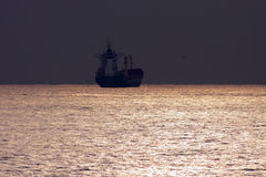 Ship at dusk Royalty Free Stock Photography