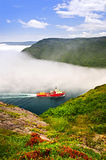 Ship entering the Narrows of St John's Stock Images