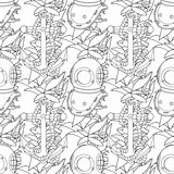 Ship equipment seamless pattern. Stock Photos