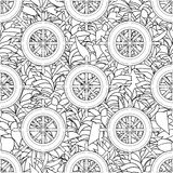 Ship equipment zentangle seamless pattern. Royalty Free Stock Photos