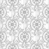 Ship equipment zentangle seamless pattern. Royalty Free Stock Image