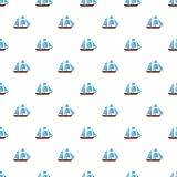 Ship excursion pattern seamless. In flat style for any design Stock Photos