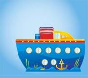 ship för barn s vektor illustrationer