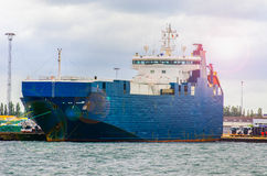 ship för behållaregdansk poland port Royaltyfri Foto