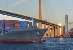 ship för behållaregdansk poland port Royaltyfria Bilder