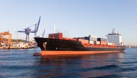 ship för behållaregdansk poland port Royaltyfri Fotografi
