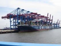 ship för behållaregdansk poland port Royaltyfri Bild