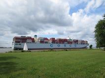 ship för behållaregdansk poland port Royaltyfria Foton