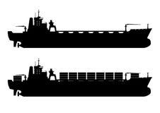 ship för behållaregdansk poland port vektor illustrationer