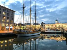ship för hamnhelsinki segling royaltyfri bild