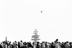 Ship farewell Stock Image