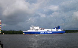 Ship-ferry DFDS SEAWAYS Stock Photography