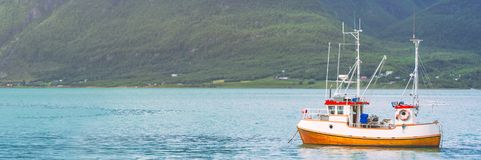 Ship at fiord in Norway, Europe Stock Photography