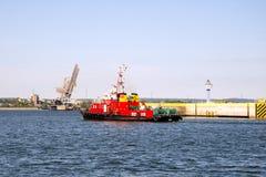 Ship fire Royalty Free Stock Photos
