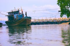 Ship,fishing boat in the sea royalty free stock photography