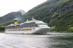 Ship in fjord. Stock Photography
