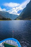 Ship and fjord Sognefjord - Norway Royalty Free Stock Images