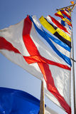 Ship Flags Royalty Free Stock Photo
