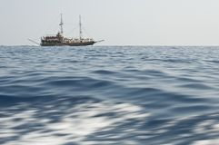 A ship floating in sea Royalty Free Stock Images