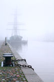 Ship In Fog Stock Photography