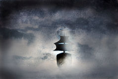 Ship in the fog Royalty Free Stock Photography