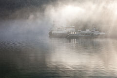 Ship in the fog Stock Photography