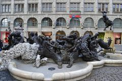 Ship of Fools. Modern famous sculpture in Nuremberg Royalty Free Stock Photo